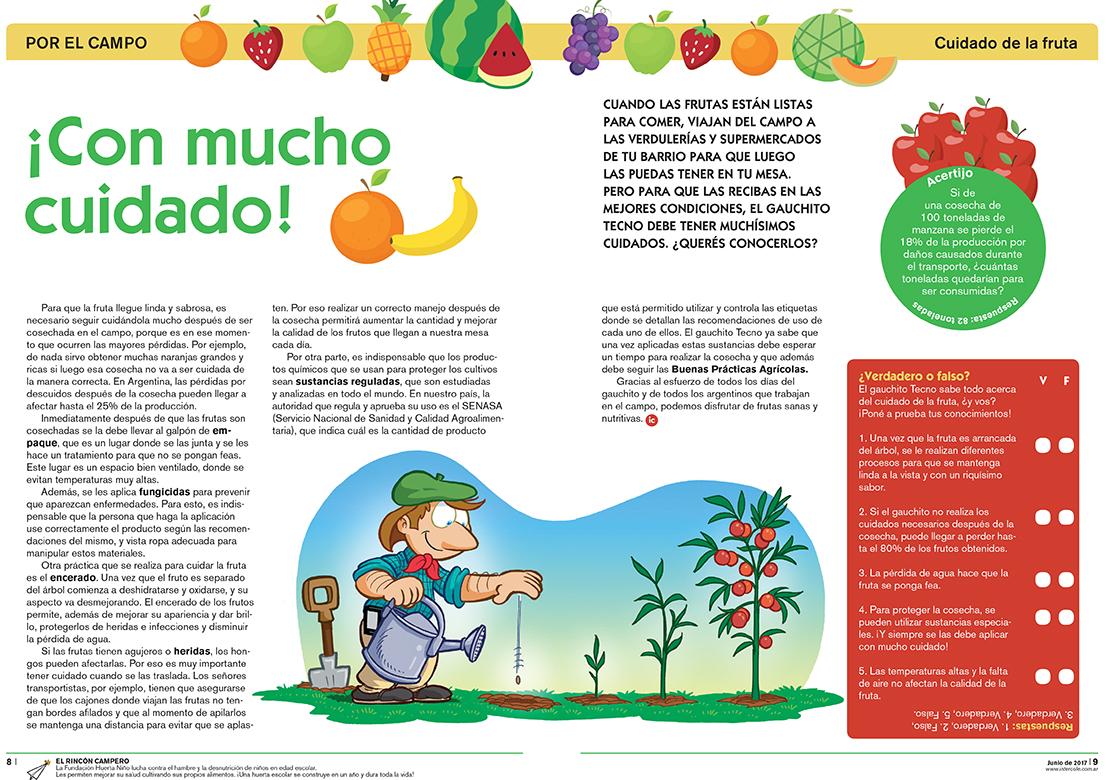 Con mucho cuidado - Cuidado de la fruta (Revista Intercole Junio 2017)