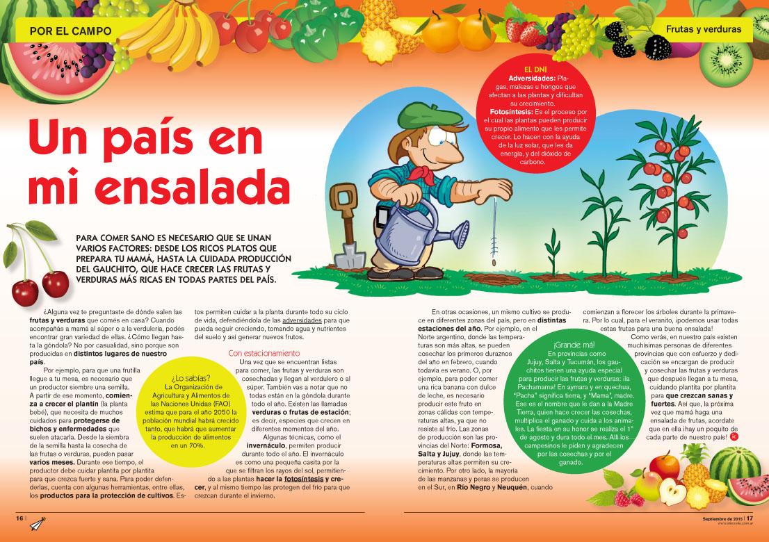 Un país en mi ensalada - Frutas y Verduras (Revista Intercole Septiembre 2015)