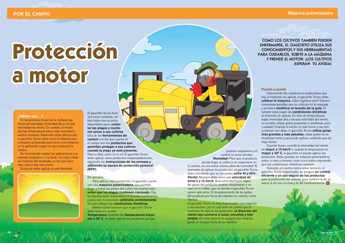 Protección a motor - Máquina Pulverizadora (Revista Intercole Junio 2015)