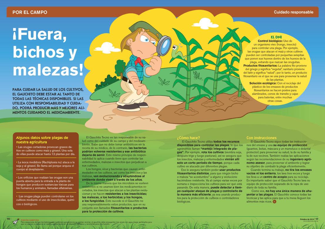 ¡Fuera bichos y malezas! - Cuidado Responsable (Revista Intercole Octubre 2014)