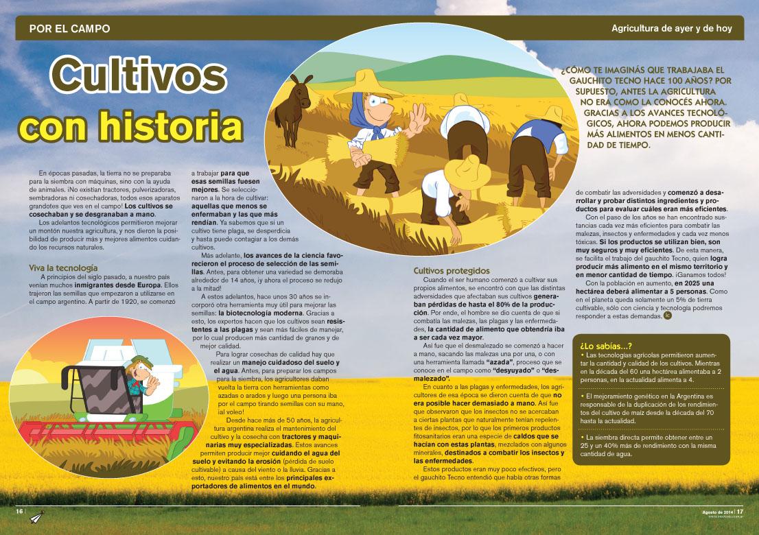 Cultivos con historia - Agricultura de ayer y de hoy (Revista Intercole Agosto 2014)
