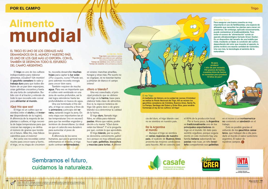Alimento Mundial - El Trigo (Revista Intercole Mayo 2014)