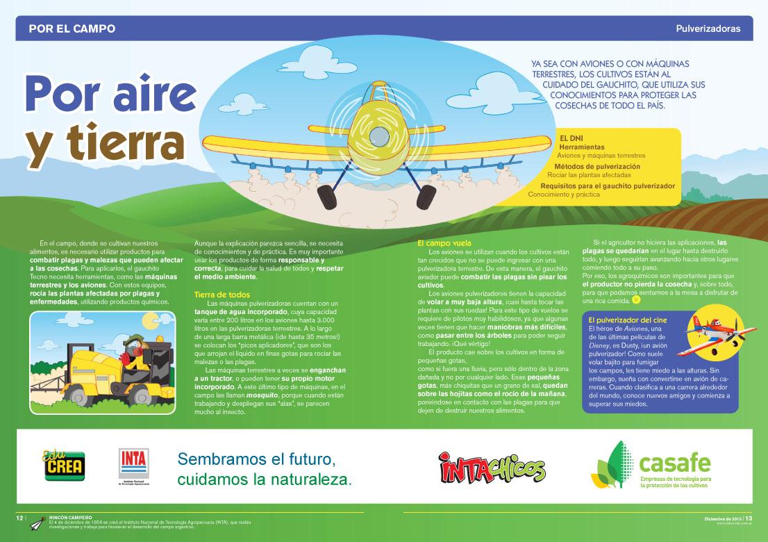 Por aire y tierra - Pulverizadores (Revista Intercole Diciembre 2013)