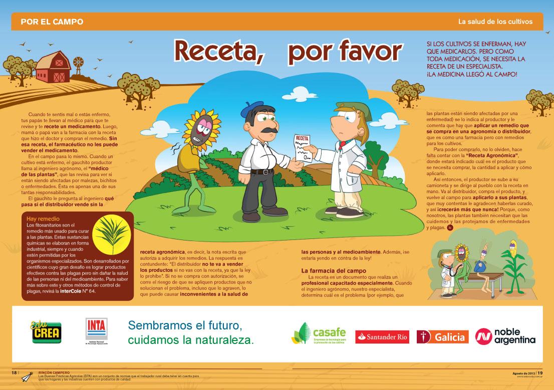 Receta, por favor - La salud de los cultivos (Revista Intercole Agosto 2013)