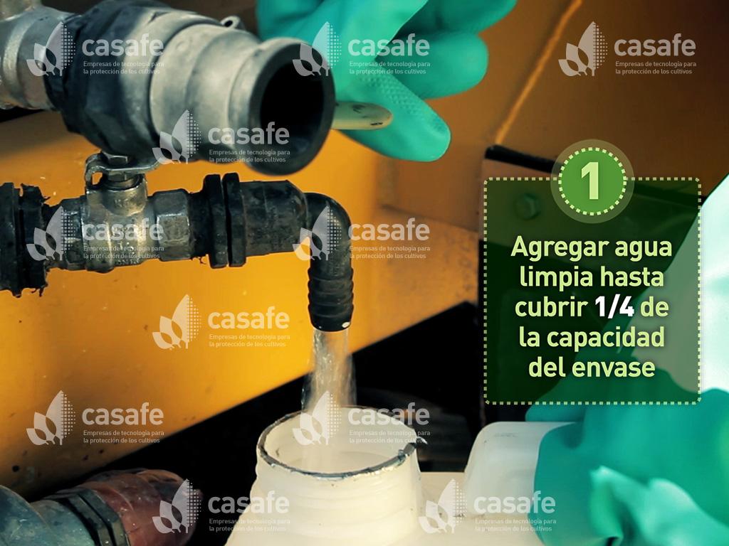 triple-lavado de envases de agroquimicos-paso1