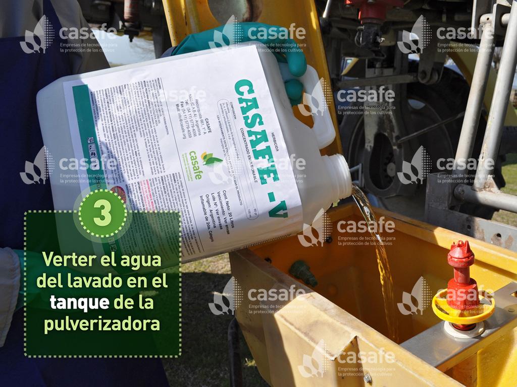triple-lavado de envases de agroquimicos-paso3