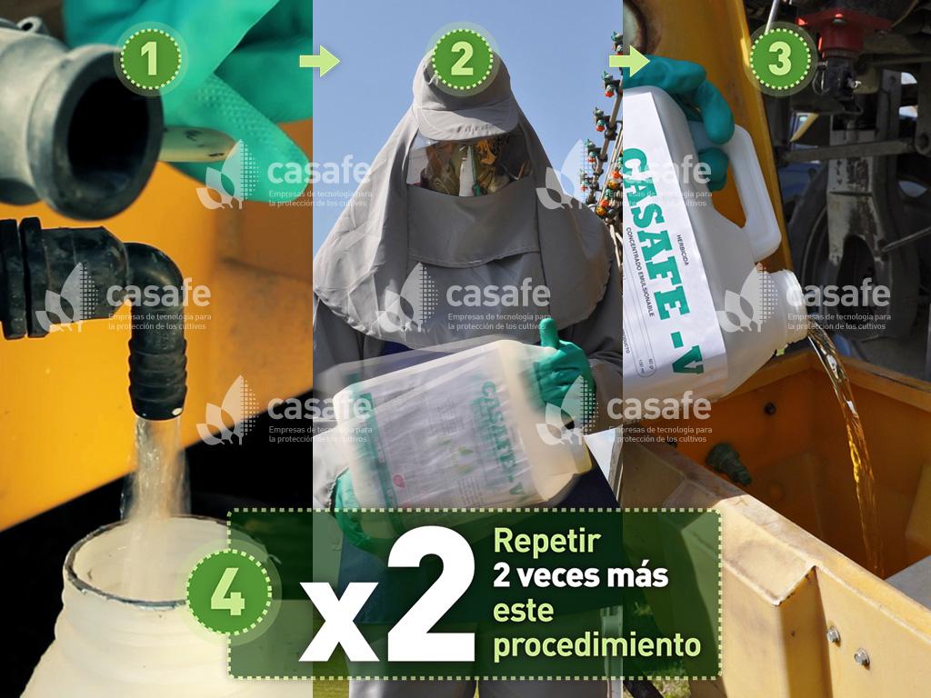 triple-lavado de envases de agroquimicos-paso4