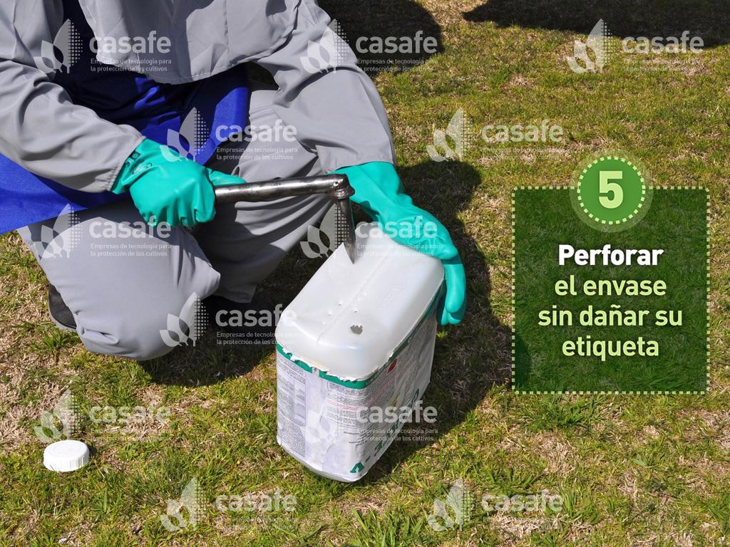 triple-lavado de envases de agroquimicos-paso5
