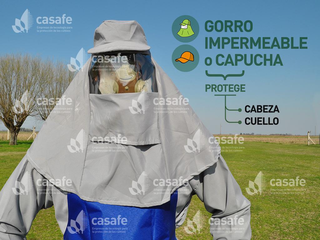 imagen-epp-gorro-impermeable-capucha para aplicar productos fitosanitarios