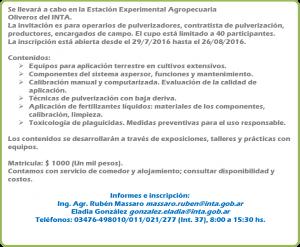 Uso Responsable en Aplicación de Fitosanitarios @ EEA INTA Oliveros | Oliveros | Santa Fe | Argentina