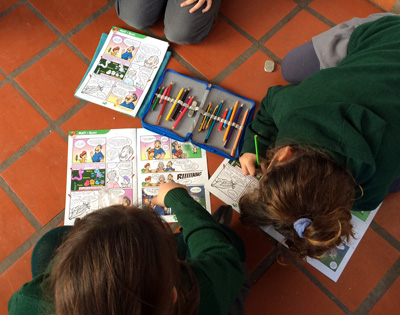 En las jornadas narrativas, los chicos se enorgullecen de lo que produce el campo y aprenden a cuidarlo