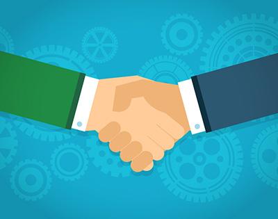Asociarse y trabajar juntos para ganar
