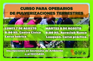 Jornada de actualización técnica en pulverización agrícola. @ Centro Cívico - Aeroclub Ñanco Lauquen.  | Trenque Lauquen | Buenos Aires | Argentina