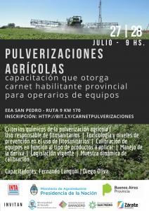Jornada de actualización técnica en pulverización agrícola. @ EEA San Pedro. Ruta 9 Km 170. Ramallo | Argentina