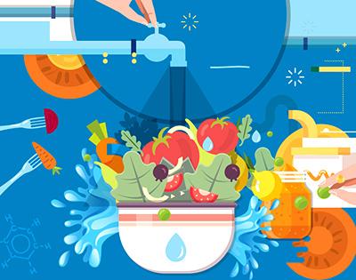 Lavar tus frutas y verduras: un hábito que suma vida