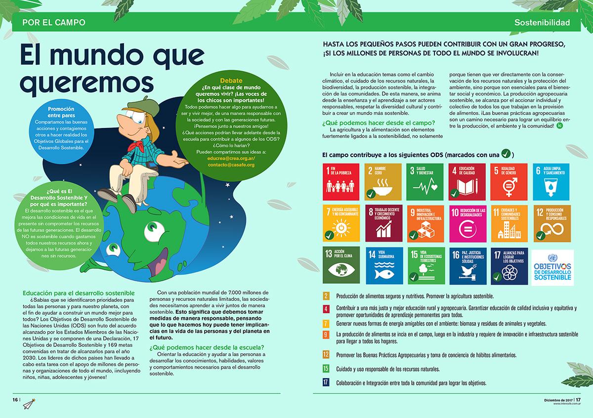 El mundo que queremos - Sostenibilidad (Revista Intercole Diciembre 2017)