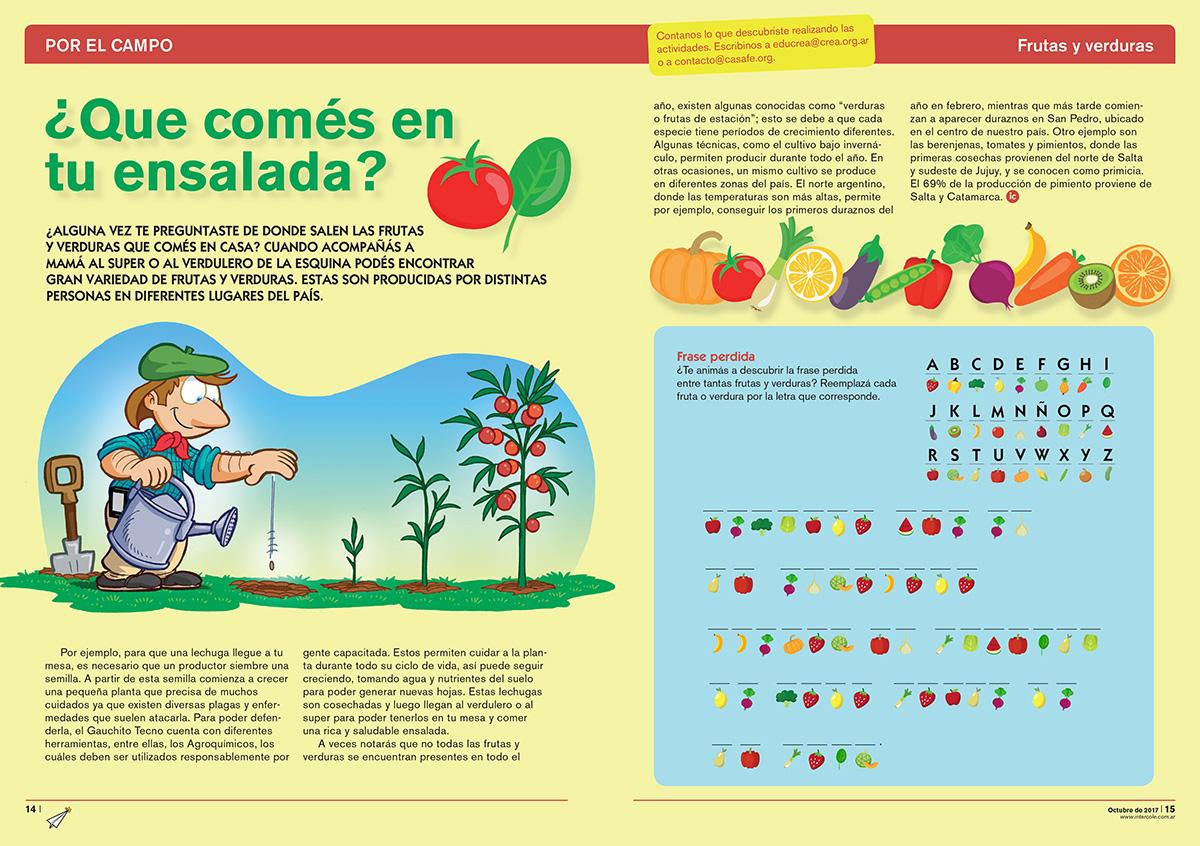 ¿Qué comés en tu ensalada? - Frutas y Verduras (Revista Intercole Octubre 2017)
