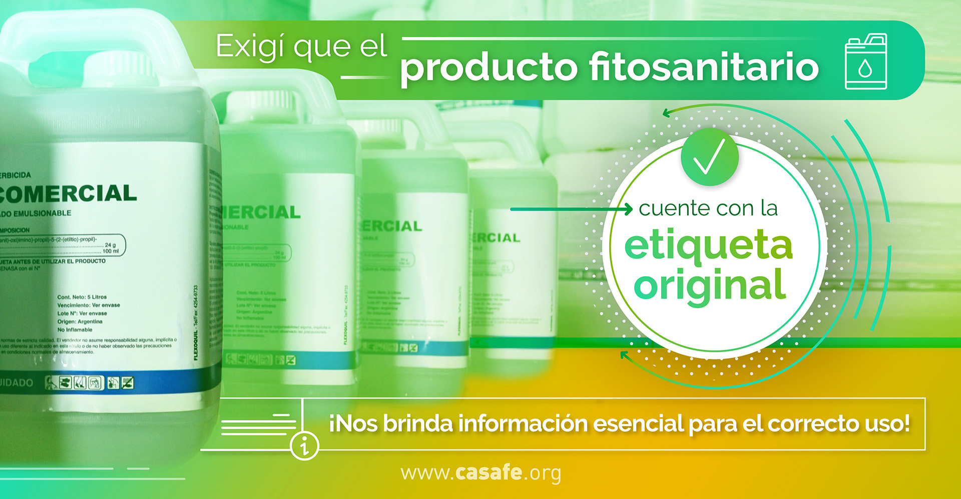 etiquetado de fitosanitarios lectura de etiqueta normativa vigente Casafe