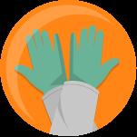 icono guantes