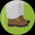 icono botas